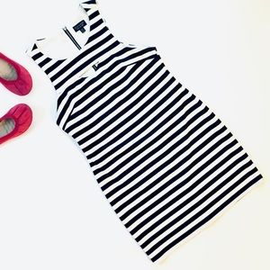 Topshop Black & White Striped Cutout Bodycon Dress
